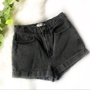American Apparel High Waisted Jean Shorts | 28